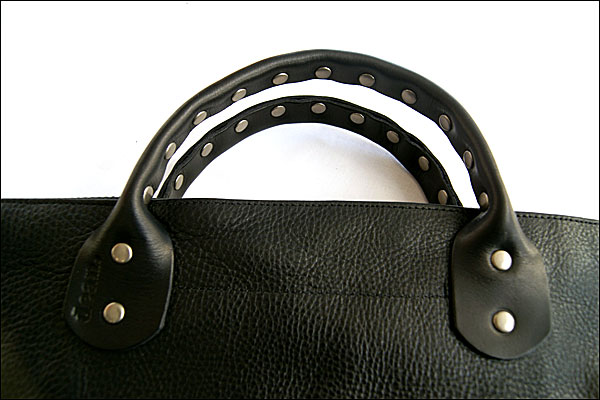 ★dean. ub 07 Studded Handle Railway Bag